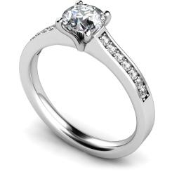 HRRSD581 Round Shoulder Diamond Ring - white