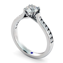 HRRSD629 Crossover Round cut Diamond Ring with Accent Stones - white