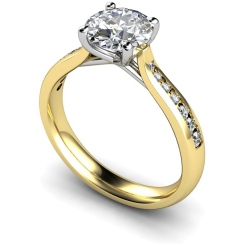 HRRSD631 Round Shoulder Diamond Ring - yellow