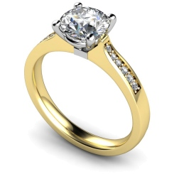 HRRSD658 Round Shoulder Diamond Ring - yellow