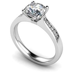 HRRSD658 Round Shoulder Diamond Ring - white