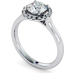 HRRSD681 Round Halo Diamond Ring - white