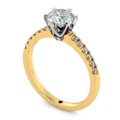 HRRSD797 Round Shoulder Diamond Ring - yellow