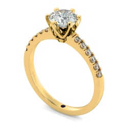 HRRSD797 Round Shoulder Diamond Ring - yellow