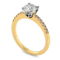HRRSD799 Round Shoulder Diamond Ring - yellow
