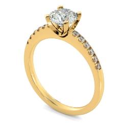 HRRSD799 Round Shoulder Diamond Ring - yellow