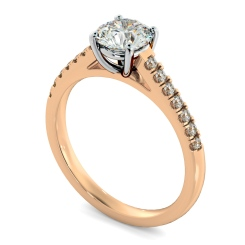 HRRSD800 Round Shoulder Diamond Ring - rose