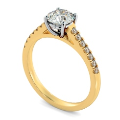 HRRSD800 Round Shoulder Diamond Ring - yellow