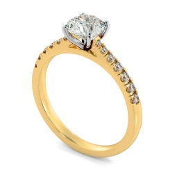 HRRSD801 Round Shoulder Diamond Ring - yellow