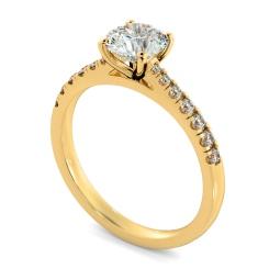 HRRSD801 Round Shoulder Diamond Ring - yellow