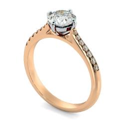 HRRSD803 Round Shoulder Diamond Ring - rose