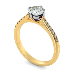 HRRSD803 Round Shoulder Diamond Ring - yellow