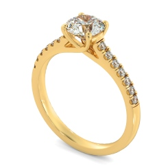HRRSD804 Round Shoulder Diamond Ring - yellow