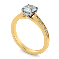 HRRSD805 Round Shoulder Diamond Ring - yellow