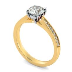 HRRSD805 Round Shoulder Diamond Ring - yellow