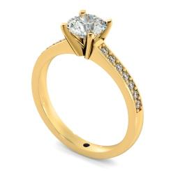 HRRSD806 Round Shoulder Diamond Ring - yellow