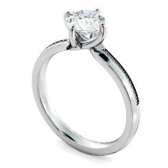 HRRSD808 Round Shoulder Diamond Ring - white