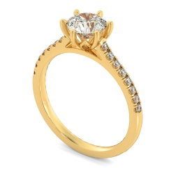 HRRSD810 Round Shoulder Diamond Ring - yellow
