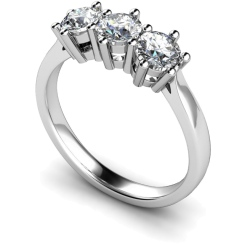 HRRTR101 3 Round Diamonds Trilogy Ring - white