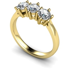 HRRTR101 3 Round Diamonds Trilogy Ring - yellow