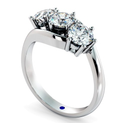 HRRTR106 3 Round Diamonds Trilogy Ring - white