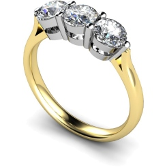 HRRTR120 3 Round Diamonds Trilogy Ring - yellow