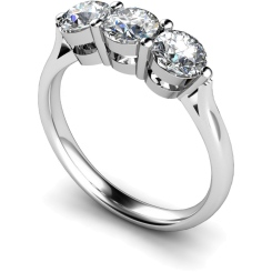 HRRTR120 3 Round Diamonds Trilogy Ring - white
