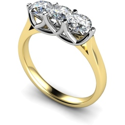 HRRTR126 3 Round Diamonds Trilogy Ring - yellow