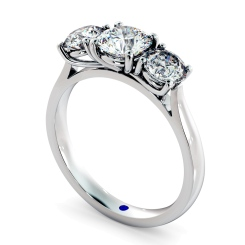 HRRTR149 Round 3 Stone Diamond Ring - white