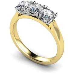 HRRTR150 3 Round Diamonds Trilogy Ring - yellow