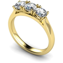 HRRTR150 3 Round Diamonds Trilogy Ring - yellow