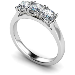 HRRTR150 3 Round Diamonds Trilogy Ring - white