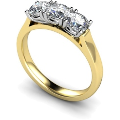 HRRTR160 3 Round Diamonds Trilogy Ring - yellow