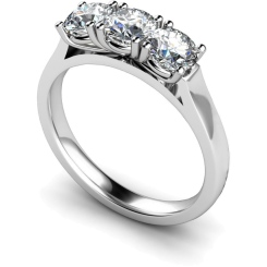 HRRTR160 3 Round Diamonds Trilogy Ring - white