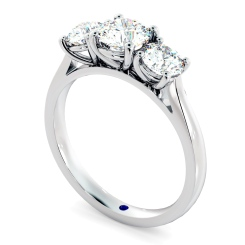 HRRTR167 Round 3 Stone Diamond Ring - white