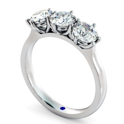 HRRTR189 3 Round Diamonds Trilogy Ring - white