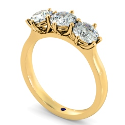 HRRTR189 3 Round Diamonds Trilogy Ring - yellow