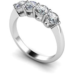 HRRTR195 Round 4 Stone Diamond Ring - white