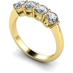 HRRTR195 Round 4 Stone Diamond Ring - yellow