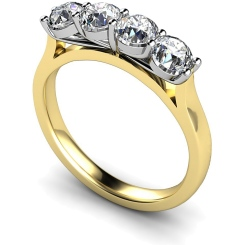 HRRTR197 Round 4 Stone Diamond Ring - yellow