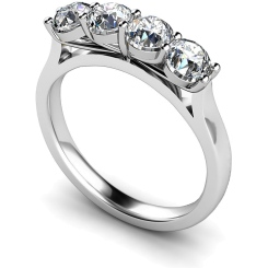 HRRTR197 Round 4 Stone Diamond Ring - white
