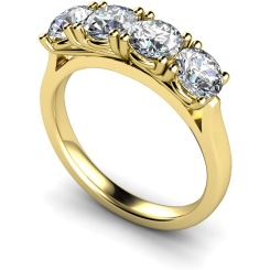 HRRTR199 Round 4 Stone Four Claws Diamond Ring - yellow
