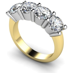 HRRTR200 Round 4 Stone Diamond Ring - yellow