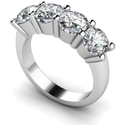 HRRTR200 Round 4 Stone Diamond Ring - white