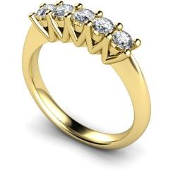 HRRTR213 Round 5 Stone Diamond Ring - yellow