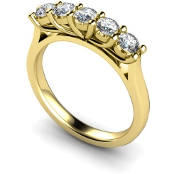HRRTR215 Round 5 Stone Diamond Ring - yellow