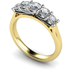 HRRTR217 Round 5 Stone Diamond Ring - yellow