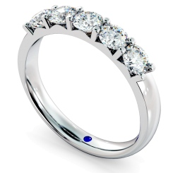 HRRTR221 Round 5 Stone Diamond Ring - white