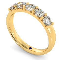 HRRTR221 Round 5 Stone Diamond Ring - yellow