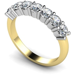 HRRTR223 Round 7 Stone Diamond Ring - yellow
